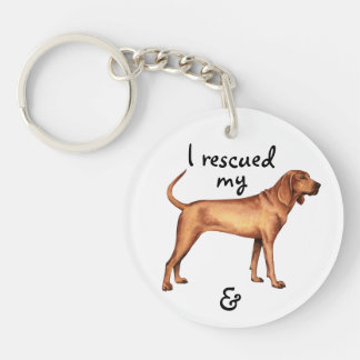 Rescue Redbone Coonhound Keychain