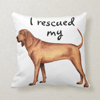 Rescue Redbone Coonhound Throw Pillow
