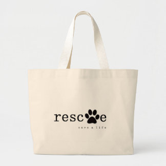 RESCUE -  Save A Life Jumbo Tote Bag