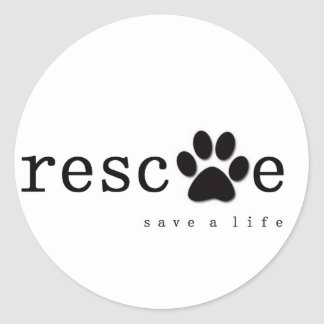 RESCUE -  Save A Life Classic Round Sticker