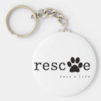 RESCUE -  Save A Life Keychain