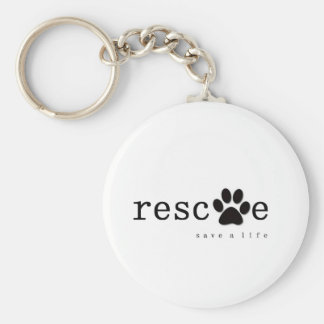 RESCUE -  Save A Life Basic Round Button Keychain