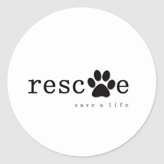 RESCUE -  Save A Life Stickers