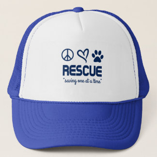 """Rescue """"Saving One At A Time"""" Hat (blue)"""