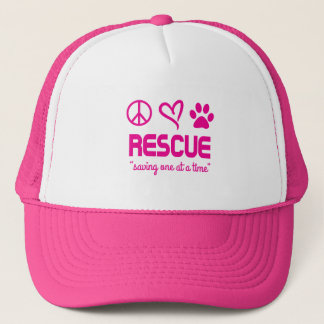 """Rescue """"Saving One At A Time"""" Hat (pink)"""