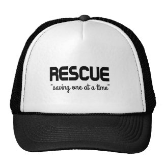 """Rescue """"saving one at a time"""" trucker hat"""