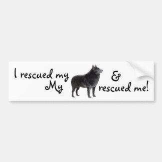 Rescue Schipperke Bumper Sticker