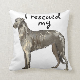 Rescue Scottish Deerhound Throw Pillow