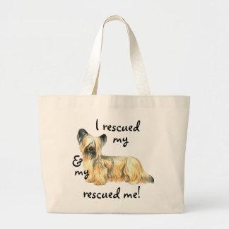 Rescue Skye Terrier Large Tote Bag