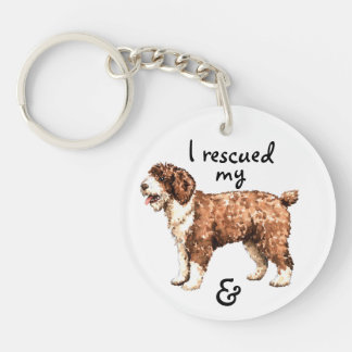 Rescue Spanish Water Dog Keychain