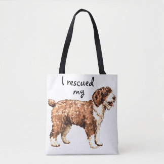 Rescue Spanish Water Dog Tote Bag