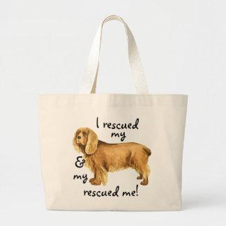 Rescue Sussex Spaniel Large Tote Bag