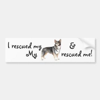 Rescue Swedish Vallhund Bumper Sticker