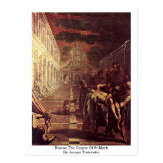 Rescue The Corpse Of St.Mark By Jacopo Tintoretto Postcard