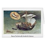 Rescue The Sailors By Gentile Da Fabriano Card