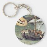Rescue The Sailors By Gentile Da Fabriano Key Chains