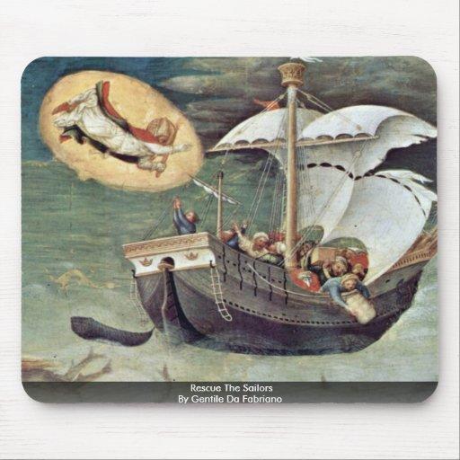 Rescue The Sailors By Gentile Da Fabriano Mouse Pad