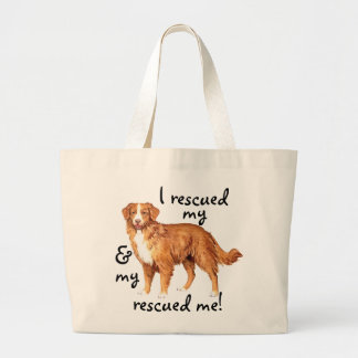 Rescue Toller Large Tote Bag