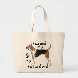Rescue Treeing Walker Coonhound Large Tote Bag