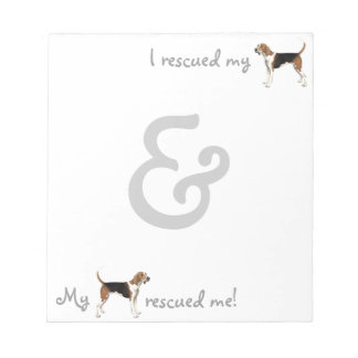 Rescue Treeing Walker Coonhound Notepad