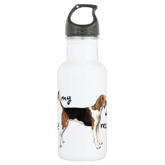 Rescue Treeing Walker Coonhound Stainless Steel Water Bottle