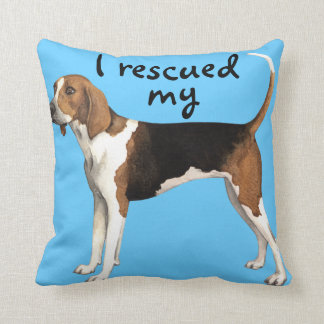 Rescue Treeing Walker Coonhound Throw Pillow