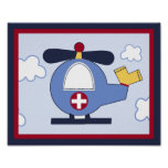 Rescue Vehicle #3 Helicopter Poster/Print Poster