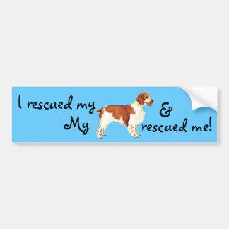 Rescue Welsh Springer Spaniel Bumper Sticker