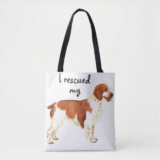 Rescue Welsh Springer Spaniel Tote Bag