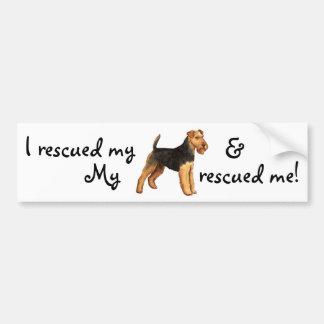 Rescue Welsh Terrier Bumper Sticker