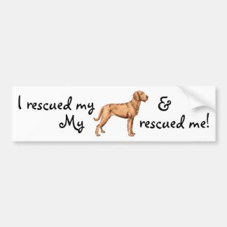 Rescue Wirehaired Vizsla Bumper Sticker