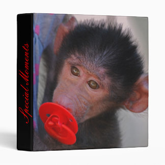 Rescued Baby Ape with a dummy Binder