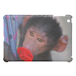 Rescued Baby Ape with a dummy iPad Mini Covers
