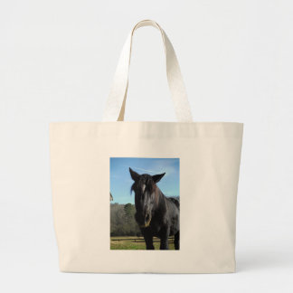 Rescued Black Draft Horse Tote Bag