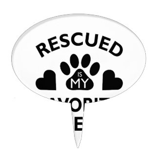 Rescued Breed Cake Topper