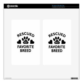 Rescued Breed Kindle Fire Decal