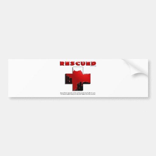 rescued bumper stickers