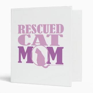 Rescued Cat Mom 3 Ring Binder