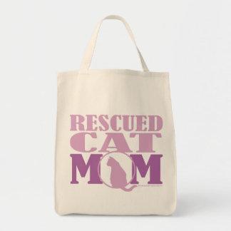 Rescued Cat Mom Tote Bag