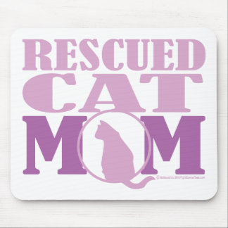 Rescued Cat Mom Mousepads