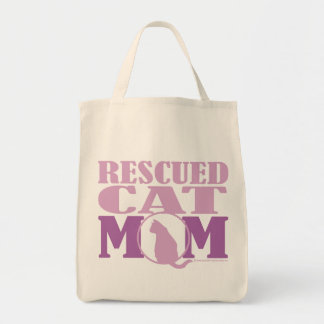 Rescued Cat Mom Tote Bag