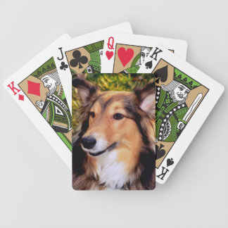 Rescued Dog Bicycle Playing Cards