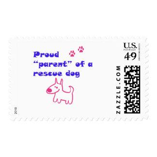 rescued dog postage