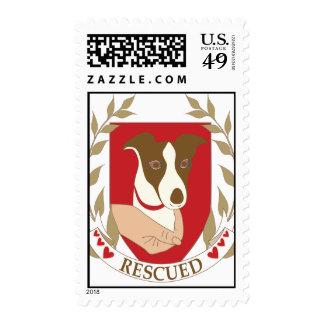 Rescued dog postage stamp
