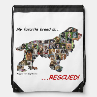 Rescued Dogs String Backpack