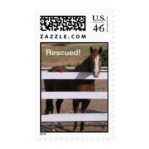 Rescued Horse stamp