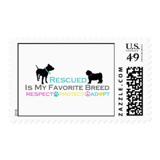 Rescued is Favorite Breed Postage Stamps