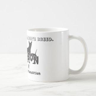 Rescued is my favorite breed. coffee mug