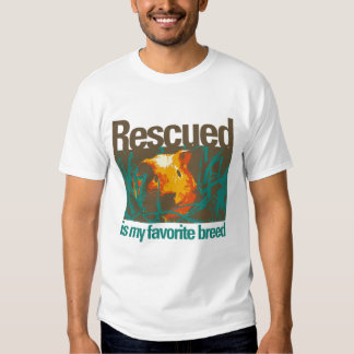 Rescued is my favorite Breed - Guinea Pig Today Tee Shirt