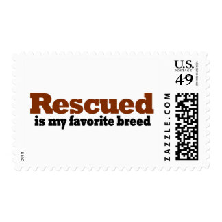 Rescued Is My Favorite Breed Stamp